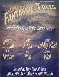 Vermont Fantastic Tales, Quarterstaff Games, Burlington, Vermont