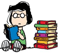 lucy reading peanuts